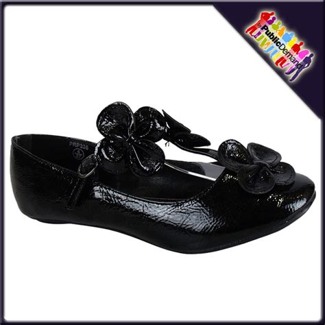 black t bar dolly shoes black patent flower t bar dolly shoes size 3 8 ebay