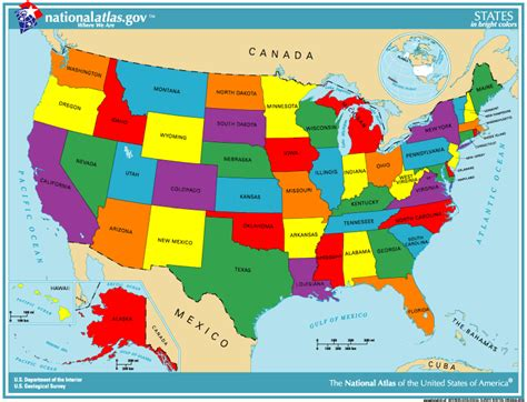 map of usa with states marked see math activities