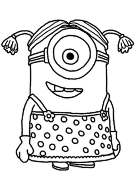 minions free colouring pages download and print minion girl despicable me coloring
