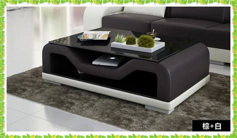 coffee table for black leather couch european style sofa table white black leather coffee table