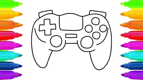 Victorian House Drawings how to draw gamepad controller coloring book for