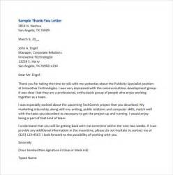 Business Letter Format Thank You Sle Thank You For Your Business Letters 7 Sles Exles Format