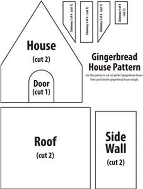 simple gingerbread house template printable 1000 images about gingerbread on pinterest gingerbread