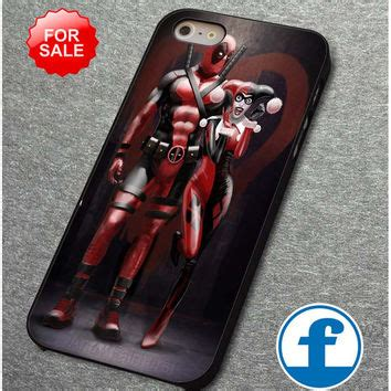 harley quinn and deadpool for iphone from fantasticase