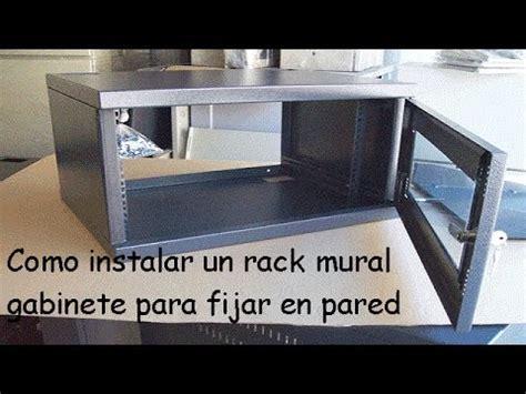 Gabinete Rack Como Instalar Gabinete Mural Rack Para Fijar A Pared How