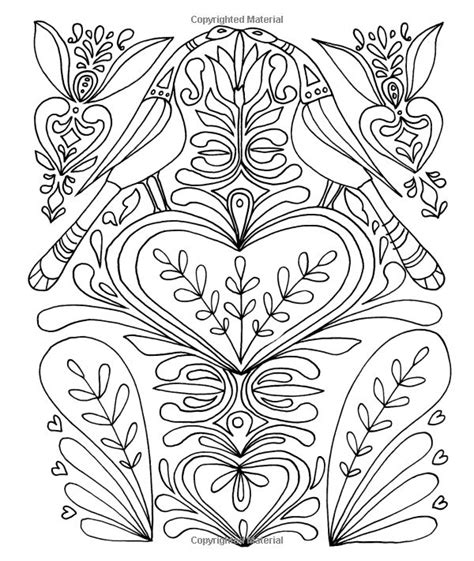just add color folk art zentangles adult colouring