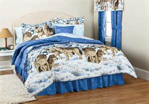 midnight wolves wolf comforter twin full queen king ebay