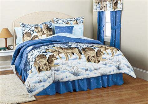 Wolves Bedding Set Midnight Wolves Wolf Comforter King Ebay