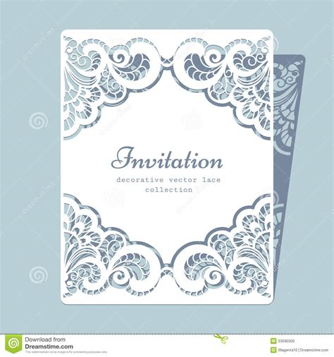 paper lace templates card rectangle lace frame stock vector image 53590300