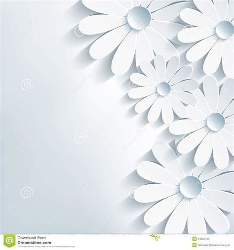 stylish creative abstract background 3d flower ch stock