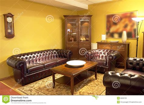Formal living room setting stock image. Image of area