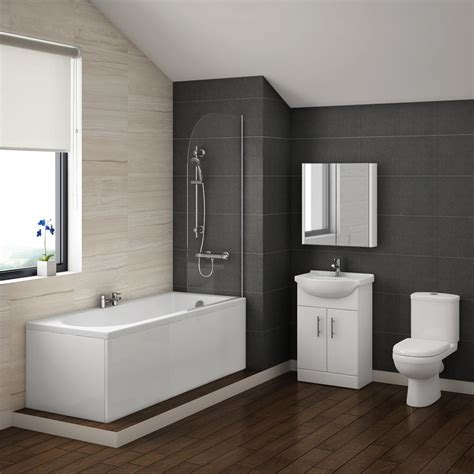 Shower Bath Bathroom Suites Alaska Vanity Bathroom Suite Inc 1700mm Bath Plumbing