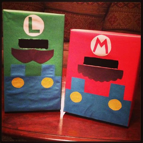 mario and luigi boxes i made for the boys
