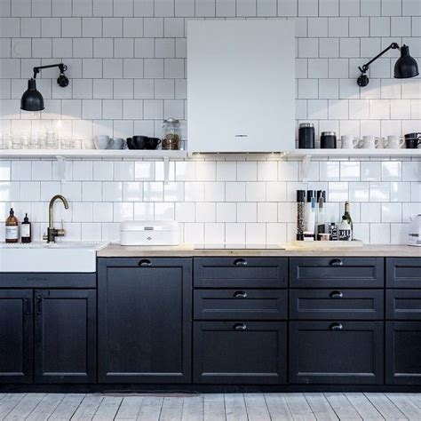 191 Best N O N W H I T E K I T C H E N Images On Ikea Black Kitchen Cabinets