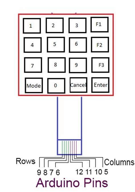 matrix keypad pull up resistor matrix keypad with push buttons arduino haneef puttur