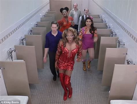 bathroom desperation bathroom desperation kinky boots cast including performs song in support of