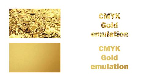 gold color rgb emulate a gold effect using cmyk the print guys