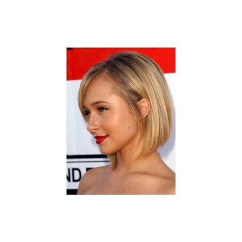 blonde hairstyles polyvore hayden panettiere inverted blonde bob with side bangs