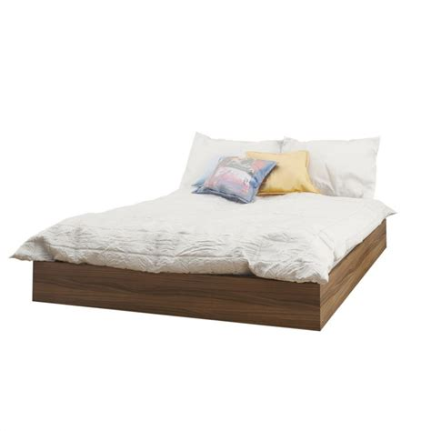 nexera bed nexera nexera 345431 alibi full size platform bed walnut