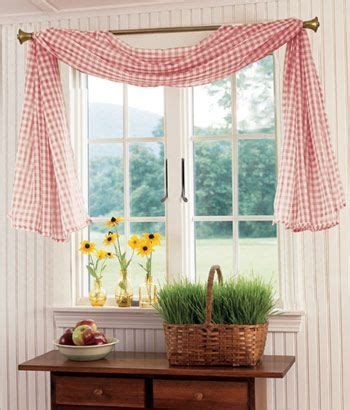 gingham country curtains gingham sheer fishtail swag darling gingham kitchen