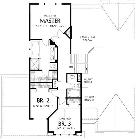 tri level house floor plans tri level narrow lot plan 69373am architectural designs house plans