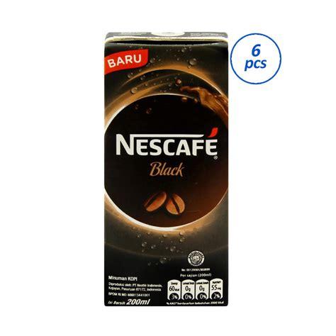 Nescafe Uht 200ml jual nescafe black uht kopi instan 200 ml 6 pcs