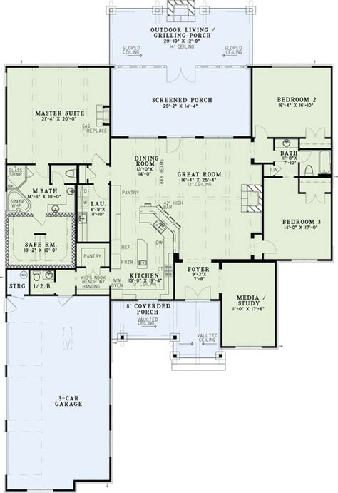 House Plan 82333 House Islands And Trips Floor Plans No Dining Room