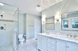 Bath with glass chandelier and pedestal tub traditional bathroom