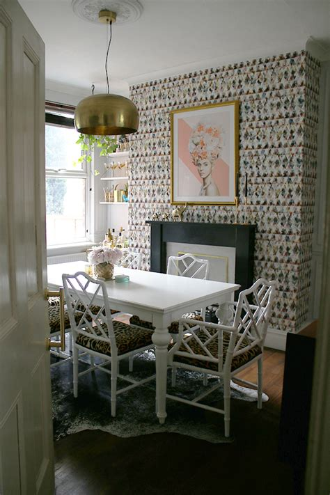 reveal   eclectic boho glam dining room swoon