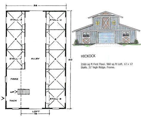 barn blueprints ashland barns hickock