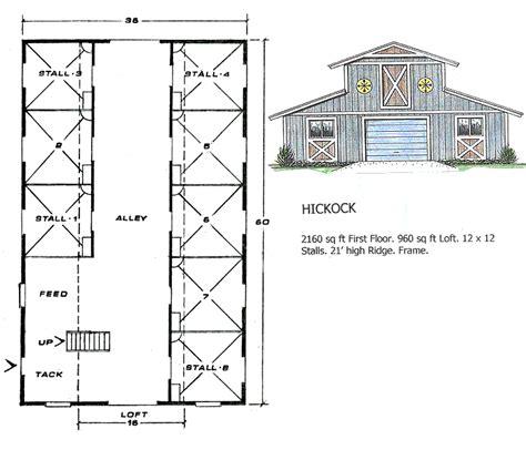barn blueprint ashland barns hickock