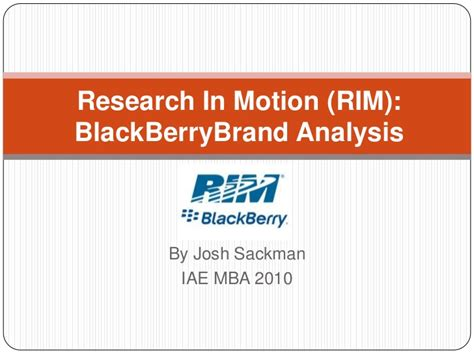 Mba Brand Management by Mba Brand Management Assignment