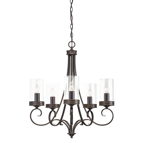 Kichler Chandeliers Shop Kichler Lighting Diana 25 In 5 Light Olde Bronze Williamsburg Clear Glass Candle Chandelier