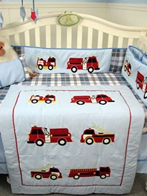 13 Pc Crib Bedding Sets by 13 Pc Boys Truck Crib Set Blue Plaid Nursery Bedding Decor Bag Nursery Bedding
