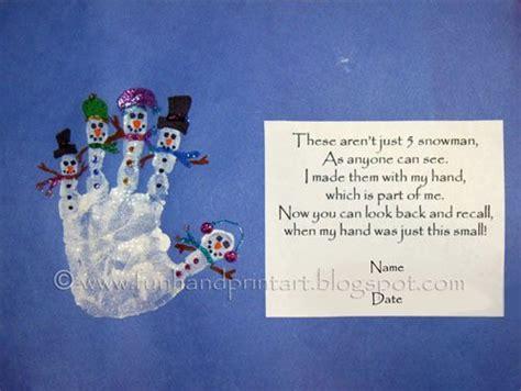 christmas tree handprint poem handprint snowman with poem handprint