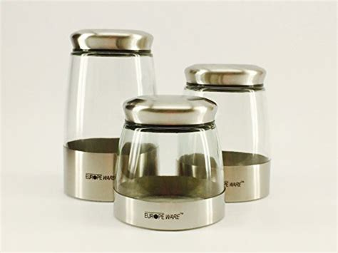 stainless steel kitchen storage canisters set of three top 21 glass storage jars