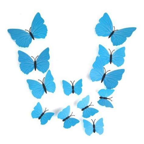 12 24 3d blue butterfly 12pcs 3d butterfly wall stickers fridge magnet home