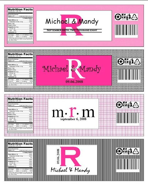 diy water bottle labels template morediydetails mandyhilliard