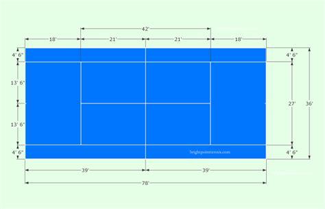 tennis court diagram with measurements tennis court diagram clipart best
