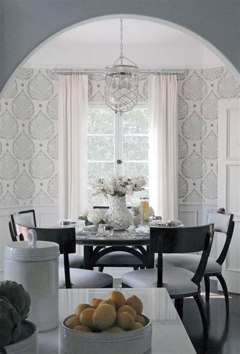 classically beautiful dining room features  dark wood