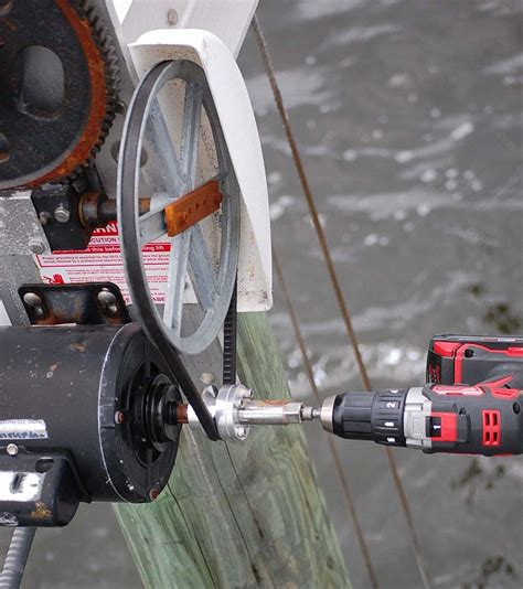back up pulley system boat lift warehouse - Boat Dock Pulley System