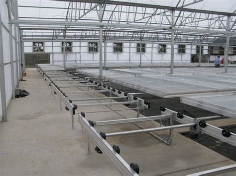 nursery benches nexus greenhouse systems palletized rolling benches