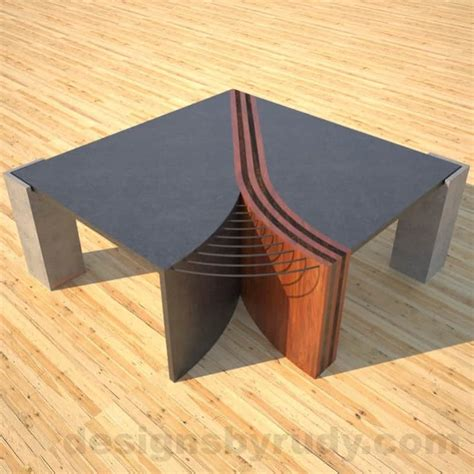 concrete and metal coffee table concrete coffee table unzipped with striped solid wood