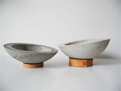 modern bowls leather and concrete decor collection by ekdesign design milk