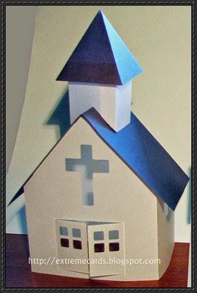 New Paper Craft Little Paper Church Free Paper Model Download On Papercraftsquare Church Model Template
