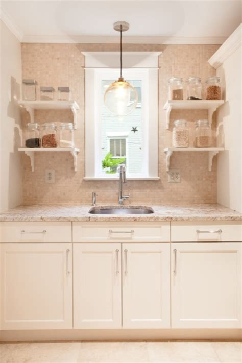 Clear Canisters Kitchen Shower Tumbled Tiles Design Ideas