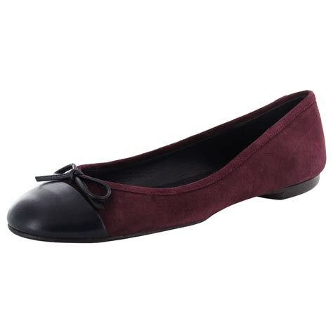 Flat Shoe Delman Womens Brook Leather Ballet Flat Shoe Ebay