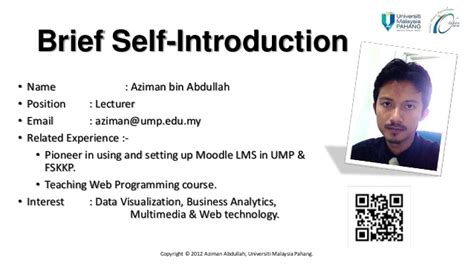 introduction brief moodle ump