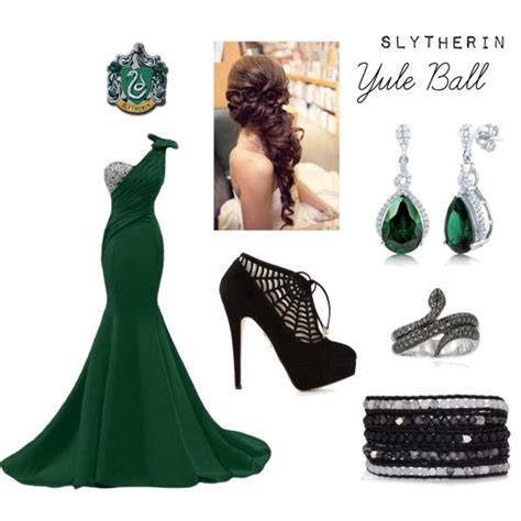Slytherin   Yule Ball   Polyvore