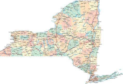 state map ny new york road map ny road map new york highway map